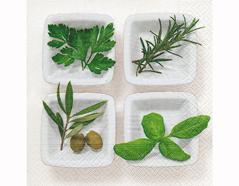 P200355 Servilletas papel Culinary herbs 33x33cm 20u Paper Design