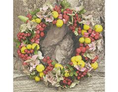 P200372 Servilletas papel Autumn wreath 33x33cm 20u Paper Design