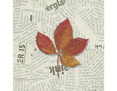P200377 Servilletas papel Leaf on news 33x33cm 20u Paper Design