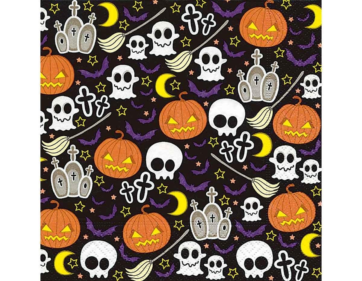 P200740 Servilletas papel Halloween mix Paper Design
