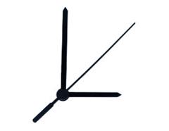 P201B P201B-1 Kit manecillas reloj plastico negro 77 y 52mm Innspiro