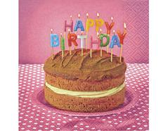P21561 Servilletas papel birthday cake Paper Design
