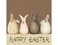 P21649 Servilletas papel happy easter bunnies Paper Design