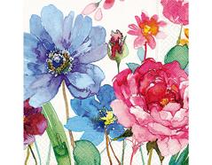 P21706 Servilletas papel watercolour flowers Paper Design