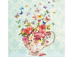 P21713 Servilletas papel cup of flowers Paper Design