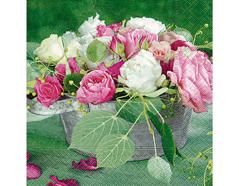 P21717 Servilletas papel composition of roses Paper Design