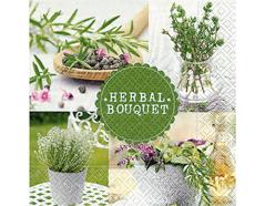 P21726 Servilletas papel herbal bouquet Paper Design