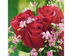 P21738 Servilletas papel bouquet de roses Paper Design