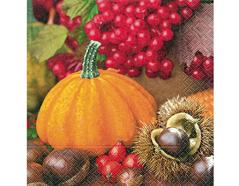P21764 Servilletas papel pumpkin fruits Paper Design