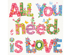 P21804 Servilletas papel All you need is love Paper Design