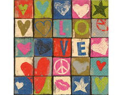 P21862 Servilletas papel Love and peace Paper Design