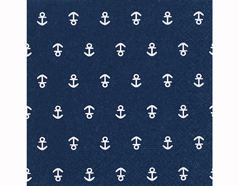 P21976 Servilletas papel Anchor dark blue 33x33cm 20u Paper Design