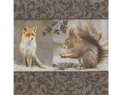 P22008 Servilletas papel Fox meets squirrel Paper Design