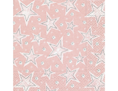 P600012 Servilletas papel Stellar dust rose Paper Design