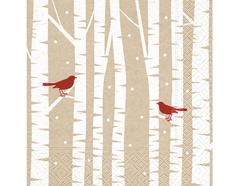 P600026 Servilletas papel Red birds Paper Design