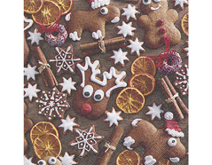 P600030 Servilletas papel Gingerbread cookies Paper Design
