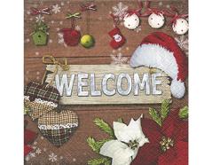 P600040 Servilletas papel Welcome Christmas Paper Design