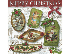 P600041 Servilletas papel Christmas labels Paper Design