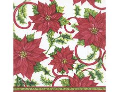 P600042 Servilletas papel Classic poinsettia Paper Design