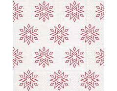 P600075 Servilletas papel Starry white and red Paper Design