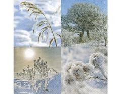P600088 Servilletas papel A winter day 33x33cm 20u Paper Design