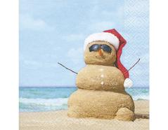 P600094 Servilletas papel Beach snowman 33x33cm 20u Paper Design