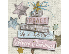 P600097 Servilletas papel Christmas wishes 33x33cm 20u Paper Design