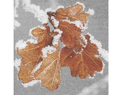 P600106 Servilletas papel Frozen leaves 33x33cm 20u Paper Design