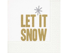 P600121 Servilletas papel Let it snow 33x33cm 20u Paper Design