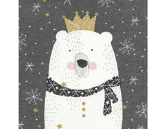 P600144 Servilletas papel Polar king 33x33cm 20u Paper Design