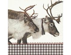 P600147 Servilletas papel Reindeer 33x33cm 20u Paper Design