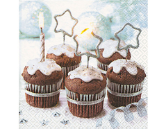 P60731 Servilletas papel xmas cupcake Paper Design