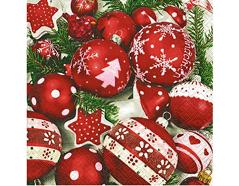P60741 Servilletas papel snow white in red Paper Design