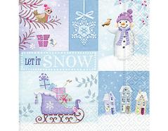 P60754 Servilletas papel let it snow Paper Design
