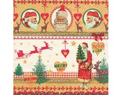 P60796 Servilletas papel pictures of santa Paper Design