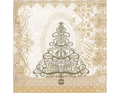 P60803 Servilletas papel baroque tree gold Paper Design