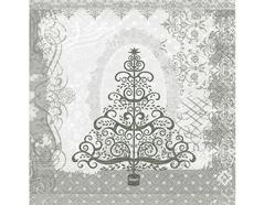 P60804 Servilletas papel baroque tree silver Paper Design