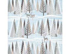 P60848 Servilletas papel Snowy winter forest Paper Design