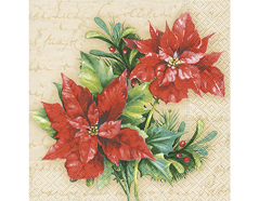 P60863 Servilletas papel Christmas flower Paper Design