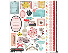 PAP-3782 PAPER COTTAGE - 12x12 STICKER SHAPES 12 hojas Basic Grey