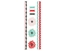 PAP-3793 PAPER COTTAGE - FELT STICKERS AND TRIMS surtido Basic Grey