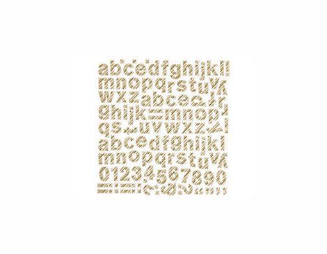 PIN-4359 25TH PINE- 12 X 12 STICKER ALPHABET 1 HOJA Basic Grey