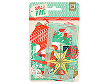 PIN-4363 25TH PINE- DIE CUTS AND TRANSPARENCIES Basic Grey