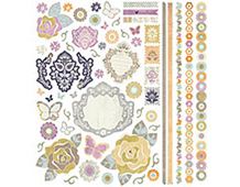 PLU-3606 PLUMERIA - 12x12 ELEMENT STICKERS 12 hojas Basic Grey