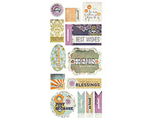 PLU-3608 PLUMERIA - 5x12 TITLES STICKERS 12 hojas Basic Grey