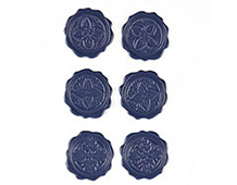 PLU-3611 PLUMERIA - WAX SEALS 6u Surtidas Basic Grey