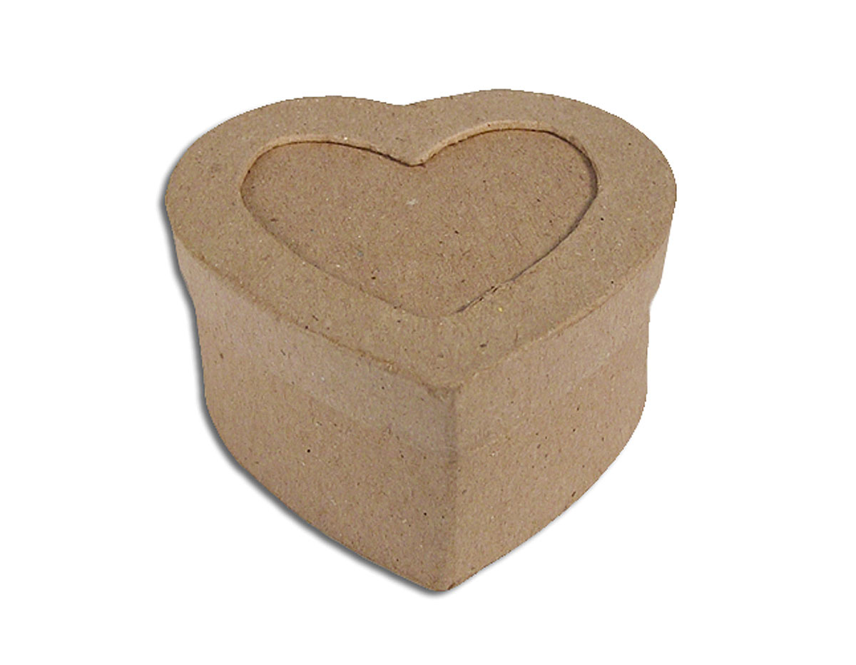 Caja papel mache con marco corazon Manualidades PM1051AP