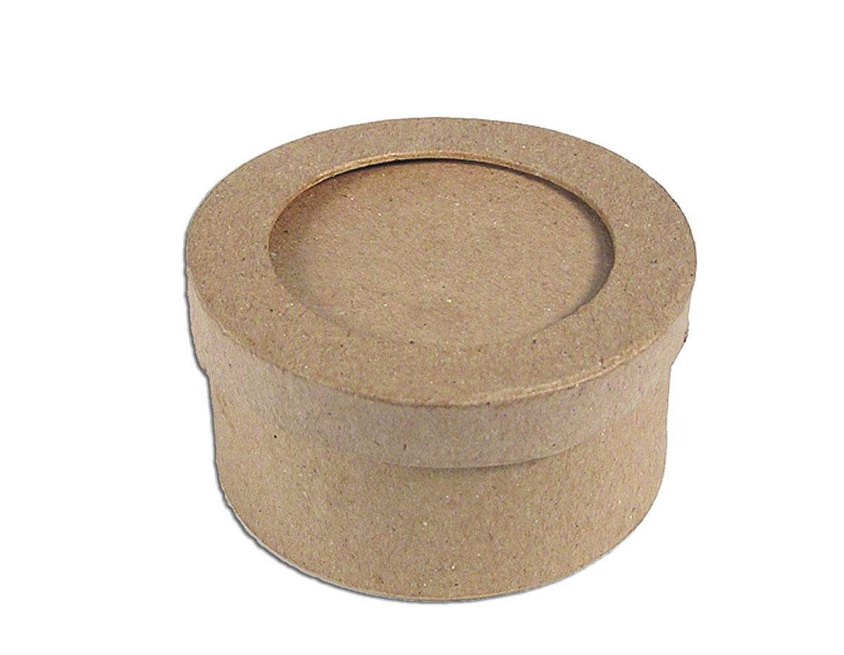 Caja papel mache con marco redonda Manualidades PM1051BP
