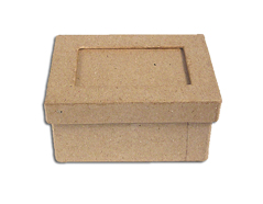 PM1051FP Caja papel mache con marco rectangular Innspiro