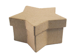 PM1051G PM1052G PM1054G Caja papel mache estrella Innspiro